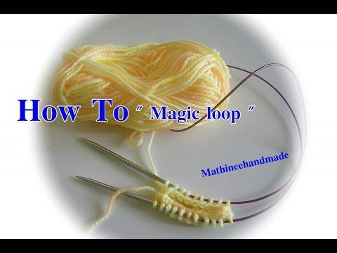 Knitting Magic Loop how to /วิธี Loop ด้วยไม้นิตวงกลม_Mathineehandmade