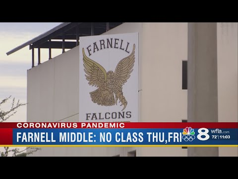 Farnell Middle School closes due to Coronavirus concerns