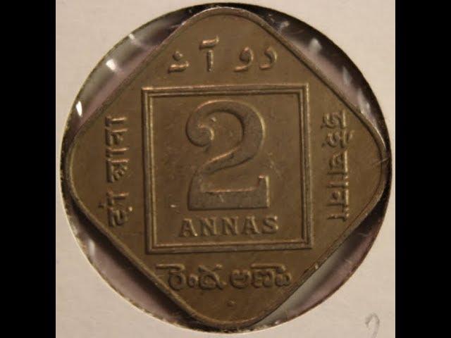 Rare Old 2 Annas Coins of British India
