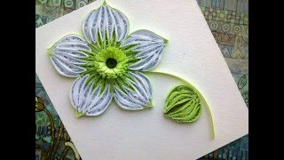 Quilling Flowers Tutorial: make a beautiful green Quilling flower. Paper art Quilling.