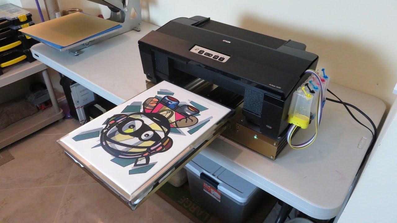 Epson 1430 Nikko DTG V2 Printing On White T-Shirt