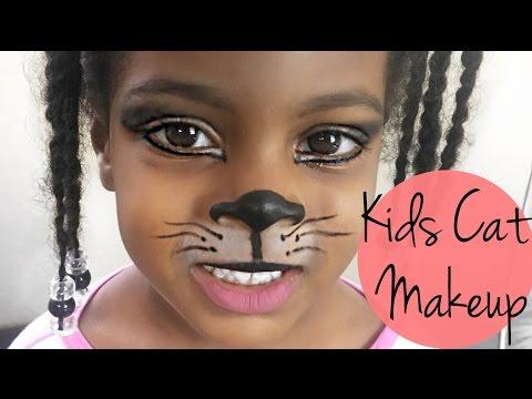 CAT HALLOWEEN MAKEUP FOR KIDS