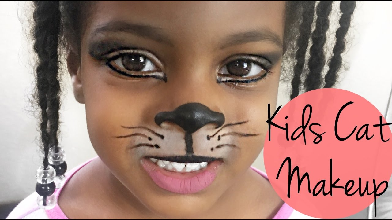 CAT HALLOWEEN MAKEUP FOR KIDS CAT HALLOWEEN