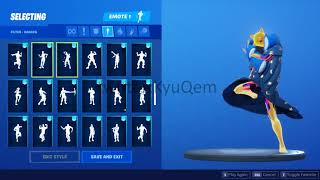 Fortnite *NEW* *LEAKED* Slumber Pillow style showcased with 97 Emotes (Scenario)