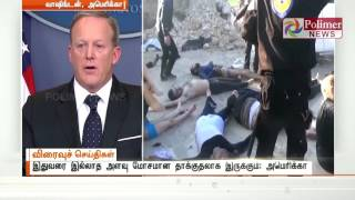 US warns that Syria might launch another chemical  attack | Polimer News