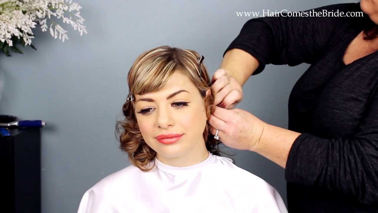1930s inspired bridal hair and makeup tutorial youtube