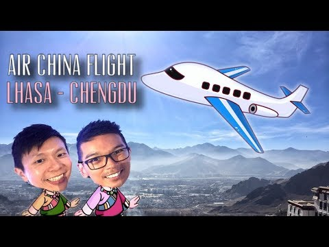 Air China A319 First Class CA408 from Lhasa to Chengdu, China