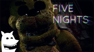 [FNaF SFM] .F.I.V.E. N.I.G.H.T.S. (The Living Tombstone - FNaF1 Song) Animated by MrMautz
