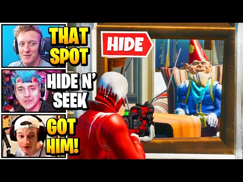 Streamers Host *200 IQ* 100 PLAYER Hide And Seek   Fortnite Daily Funny Moments Ep.560