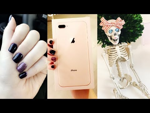 VLOG | iPhone 8 Plus, New Fall Nails, Grocery Hauls, IT Movie