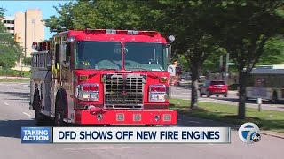 City of Detroit shows off new fire engines