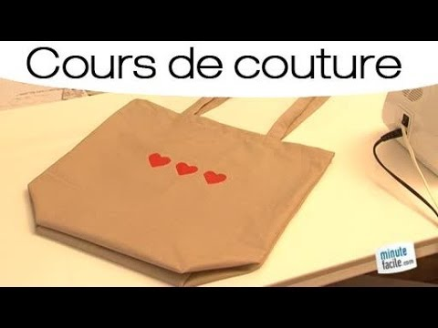 couture faire un sac courses youtube. Black Bedroom Furniture Sets. Home Design Ideas