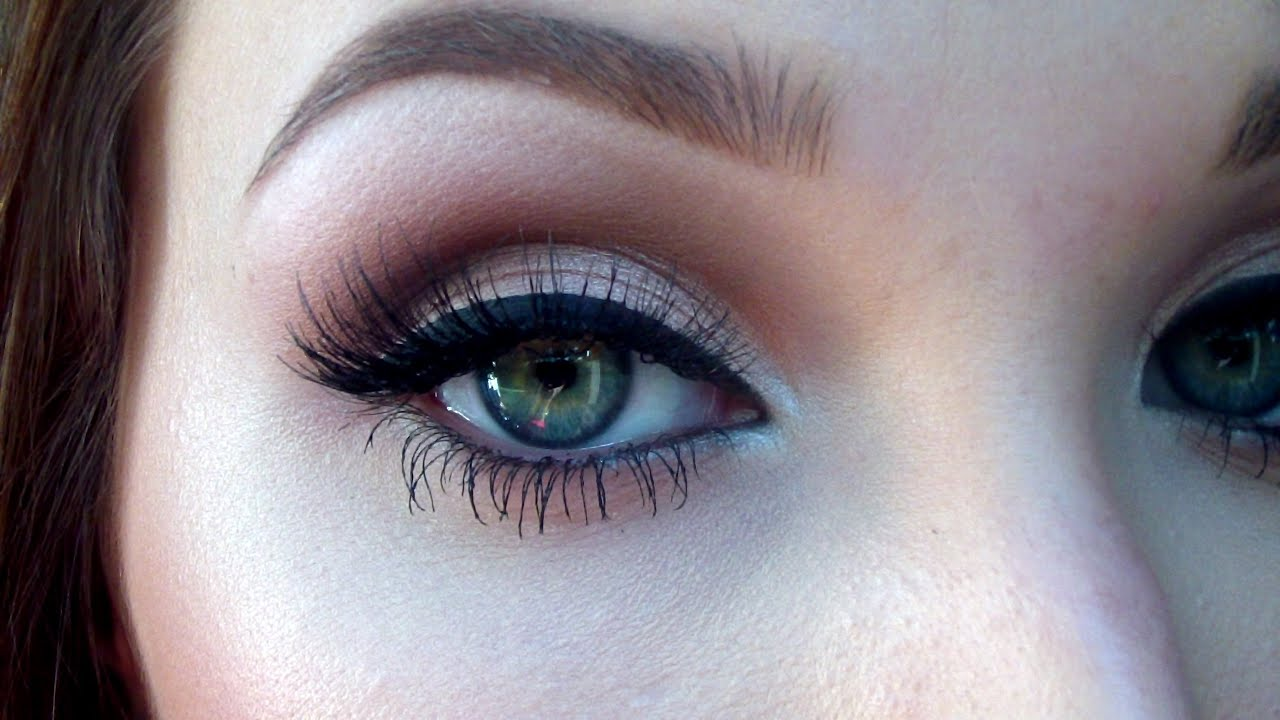 Neutral smokey eye for prom | Jaclyn Hill - YouTube