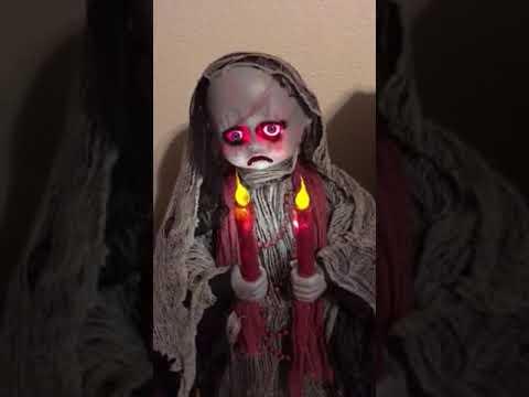 3 Foot Standing Grave Watcher Animated Spirit Halloween Prop