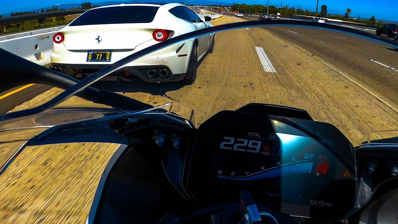 BMW S1000RR vs Ferrari vs Porsche vs R1