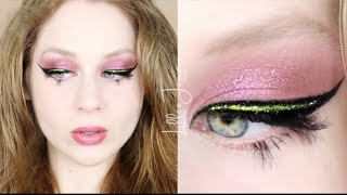 Nars EXTREME Effects Glitter Lime Green Eyeliner Makeup Tutorial 2020 | Lillee Jean