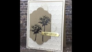 Creating with BJ using Bleach and the Avant Garden stamp set
