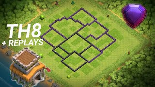 Layout Th8 Push + Replays - Clash Of Clans