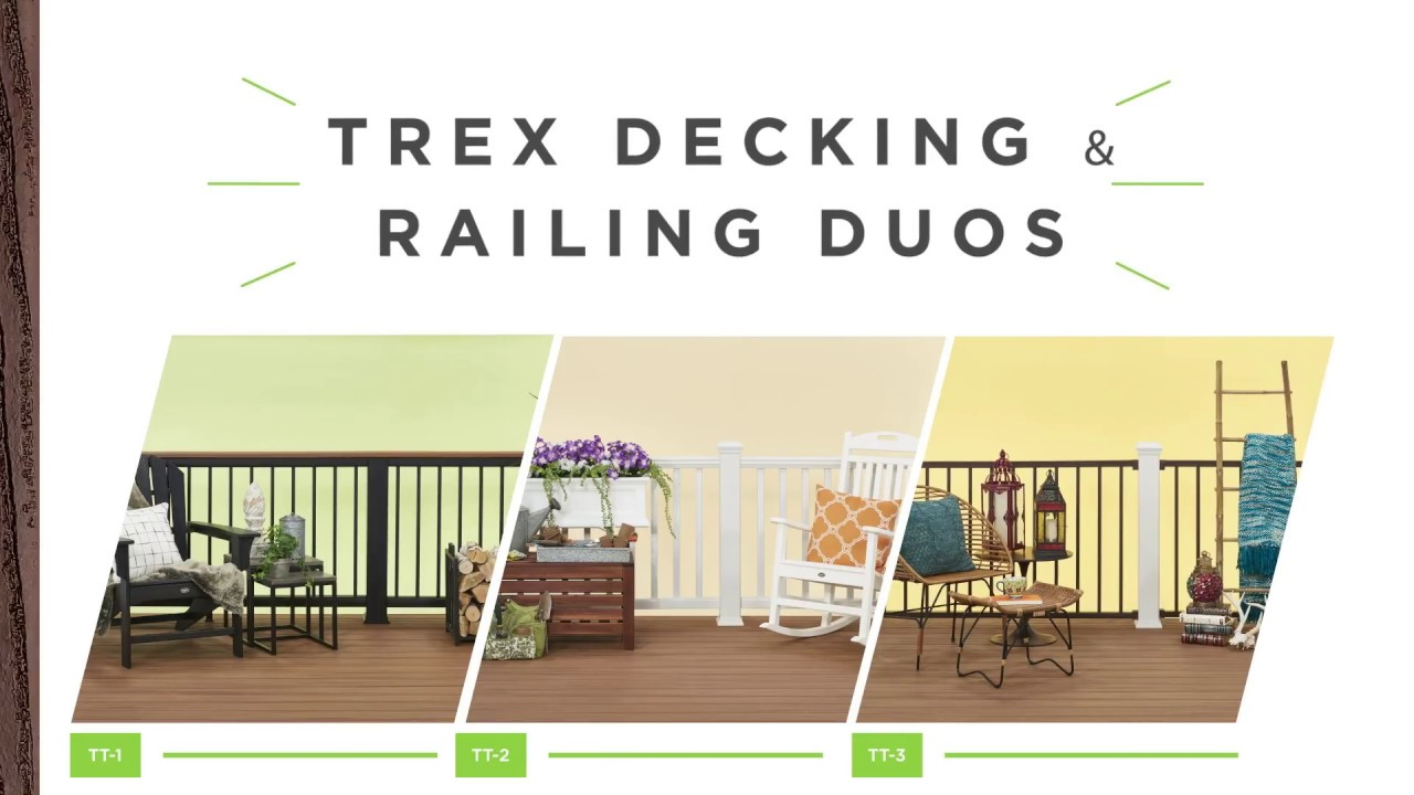 Trex Duos Easy Decking Railing Combinations