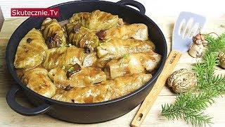 Wigilijne gołąbki z ziemniakami i kaszą w sosie grzybowym :: Skutecznie.Tv