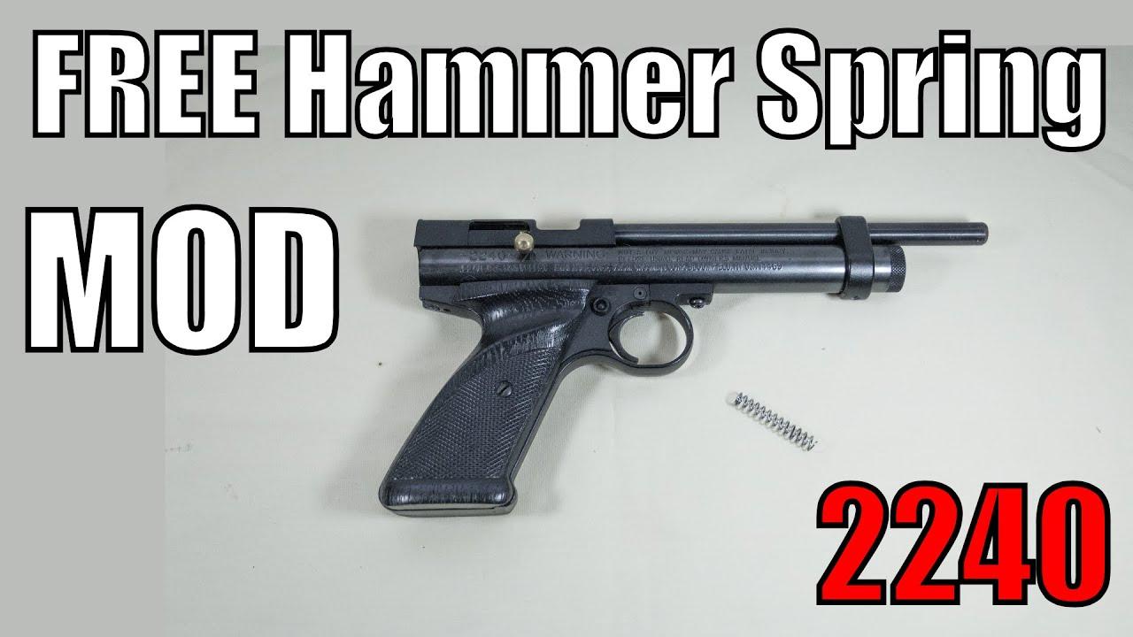crosman 2240 free lighter hammer spring mod 90 increase in co2 rh youtube com Crosman Steel Breech 2240 With Crosman 2240 Mods
