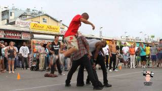 High Side Flip Over 3 People- Venice Beach California Calypso Tumblers