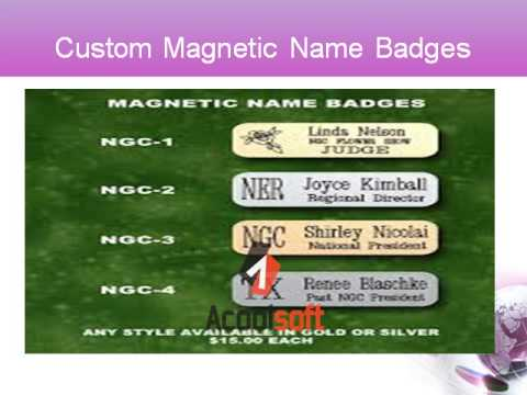 Custom Magnetic Name Badges