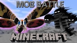 Minecraft Mob Battle - EP 29 - MOTHRA VS  WITHER BOSS [HD]