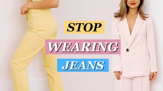 How to Look Stylish WITHOUT Skinny Jeans! 8 Spring Outfit Ideas!