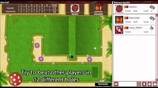 Mini-golf flash game on CasualArena.com