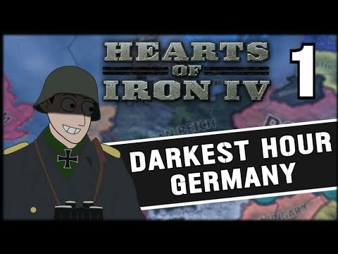 CREATING AN EMPIRE! Hearts of Iron 4 Darkest Hour Mod Germany Campaign Part 1