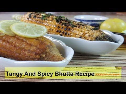Tangy And Spicy Sweet Corn ( Bhutta )Recipe (Pakistani Food Street Style)