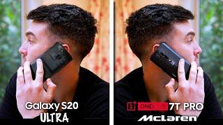 Galaxy S20 Ultra vs OnePlus 7T Pro Mclaren!   The Surprising Truth.