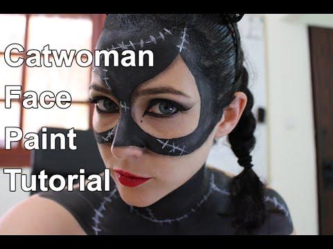 Catwoman Face Paint Tutorial