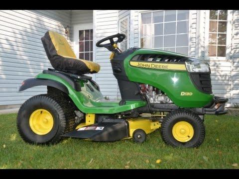 john deere lawn tractor d130 youtube