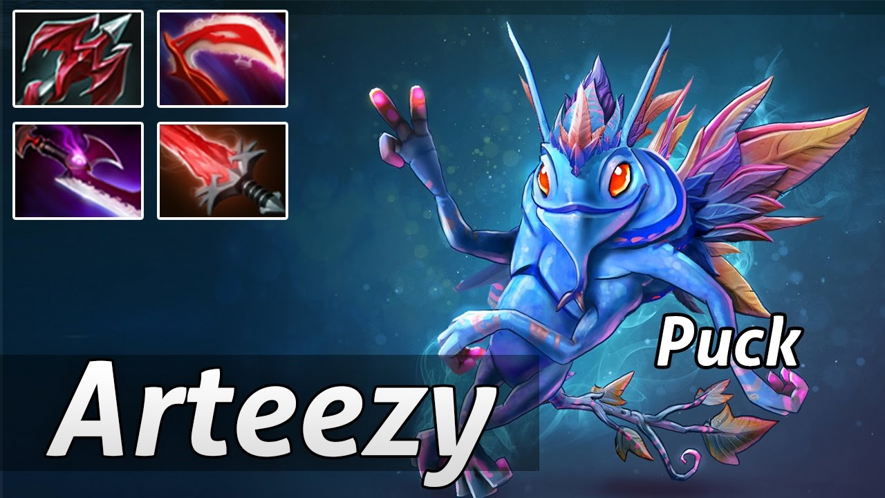 puck build carry by arteezy gameplay dota 2 youtube