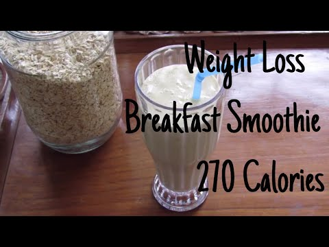 Fast Diet Weight Loss Smoothie- 270 Calories Fat Burning Breakfast Oats Smoothie - Fat Cutter Drink