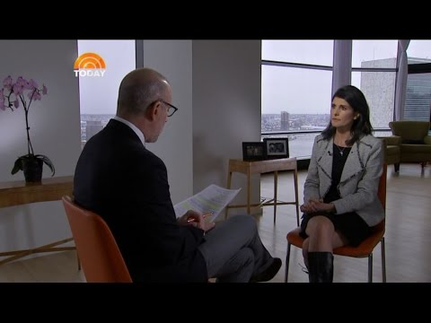 The Today Show exclusive interview with Nikki Haley