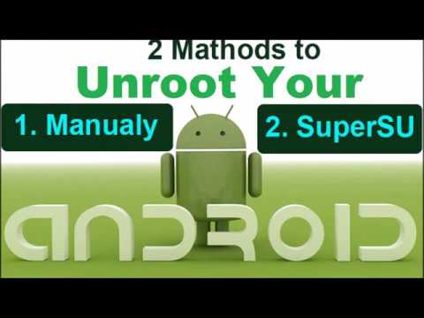 How To Unroot Android Device Manually And Using SuperSU App By RS Info TV