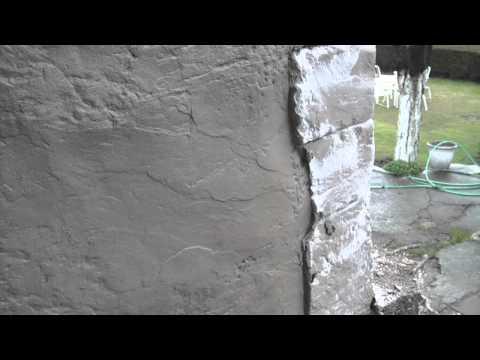 τεχνιτος βραχος σταμπωτο τοιχου κατασκευη barbekiu # 2