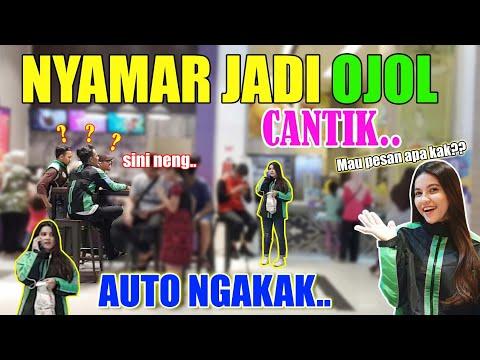 NYAMAR JADI OJEK ONLINE CANTIK!! PRANK LUCU..