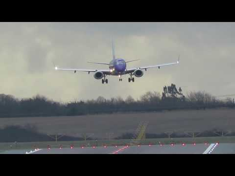 Extreme PLANE Landings during Storm!-BIRMINGHAM