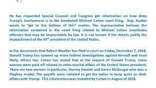 Trump Impeachment Talks Resurface after Michael Cohen Bombshell