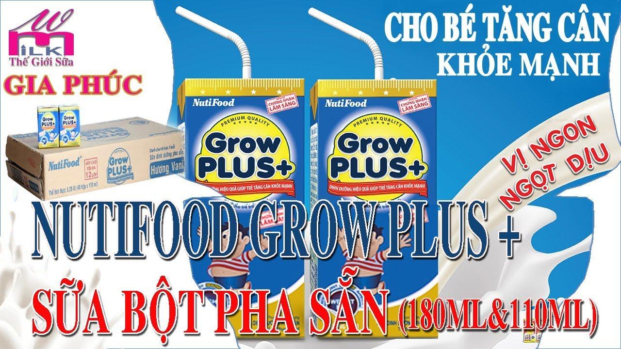 Nutifood Grow Plus + Xanh Cho Trẻ Tăng Cân Khỏe Mạnh – Sữa Bột Pha Sẵn