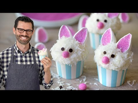 Easy Easter Bunny Cupcakes!