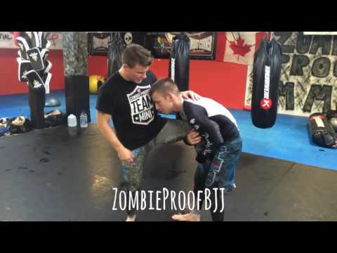 Flying Scissor Takedown From Single Leg - ZombieProof Brazilian Jiu-Jitsu / Nogi Techniques