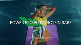 Product promo POWER PRO plus PROTEIN bars  by NatureTech