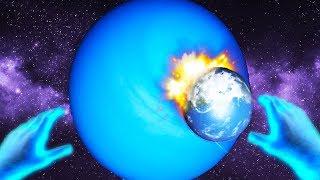I SHOVED EARTH UP URANUS in Universe Sandbox 2 VR