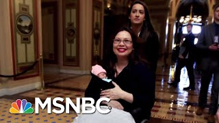 Senator Tammy Duckworth's 10-Day-Old Daughter Makes History | All In | MSNBC