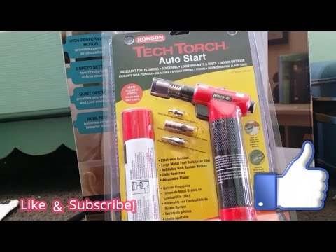 Ronson Tech Torch Unboxing & Attachment Demonstration Soldering Sub $50 Torch